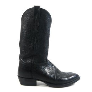 Lucchese Men Full Quil Ostrich Cowboy Boots 8.5 EE